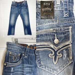 Rock Revival Troy Relaxed Jeans Buckle 33 x 32